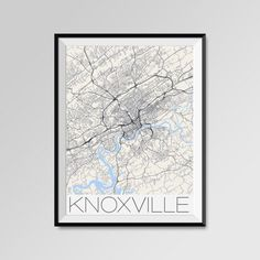 Knoxville map, Tennessee, Knoxville print, Knoxville poster, Knoxville map art, Knoxville city maps, Knoxville Minimal Wall Art, Knoxville Office Home Décor, black and white custom maps, personalized maps, University of Tennessee