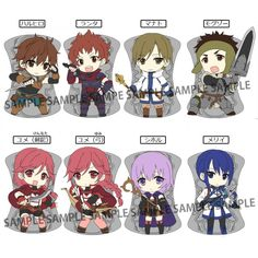 Grimgar of Fantasy and Ash Frame in Rubber Strap (Set of 8 pieces)
