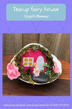 Another one of our gorgeous fairy teacup houses. We sell these at local markets so check our Facebook page to see where we'll be next.