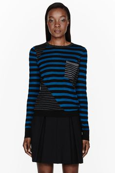 Striped Pocket Sweater - Proenza Schouler. I would live in this in the fall. And at this price, I would pretty much have to.