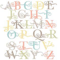Daily Freebie 4-14-15: Miss Kate Cuttables--Flourish Uppercase Alphabet SVG scrapbook cut file cute clipart files for silhouette cricut pazzles free svgs free svg cuts cute cut files