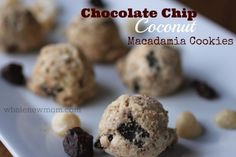 Chocolate Chip Coconut Macadamia Cookies. Gluten, Grain, and Sugar-Free with Vegan option. And did I mention, they are super-yummy as well!