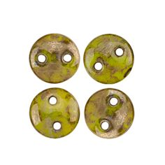 Eureka Crystal Beads - 6mm CHARTREUSE BRONZE PICASSO CzechMates Two Hole Lentil Beads Czech Glass (50 pcs), $2.95 (http://www.eurekacrystalbeads.com/6mm-lentil-chartreuse-bronze-picasso-two-hole-czech-glass-beads/)