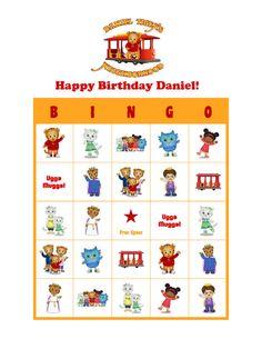 Daniel Tiger's Neighborhood Personalized Birthday Party Bingo Game Bingo Cards…