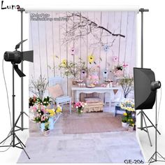 18.00$  Buy here - http://ali8mu.shopchina.info/go.php?t=32785442476 - Happy Easter Vinyl Photography Background For Children Flower Oxford Backdrop For photo studio Props 206 18.00$ #buyonlinewebsite