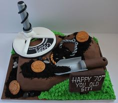 Dads 60th - Metal detectors birthday cake! by Pauls Creative Cakes, via Flickr
