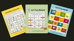"""""""Let's Type"""" Bundle--MS Word Activities for K-3:  In this bundle, you will have 3 interactive activities to use year after year to keep your students busy for at least 3 class periods! Young children enjoy these typing activities which help them recognize and type each letter and number on the keyboard. Just download and load right onto computers! http://www.teacherspayteachers.com/Product/Lets-Type-Bundle-MS-Word-Activities-for-K-3-793266"""