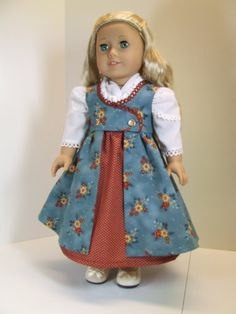 Regency Pinafore dress for American Girl Caroline by agseamstress