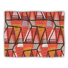 40 x 30 KESS InHouse Amanda Lane Tribal Arrows Dark Gray Fleece Baby Blanket