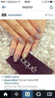 Laque nail bar Matte Nail Art, Acrylic Nails, Hot Nails, Hair And Nails, Laque Nail Bar, Nail Jewelry, Colorful Nail Designs, Nail Accessories, Almond Nails