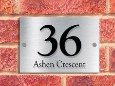 A5 | Designer House Sign Plaque | GOUDY Font