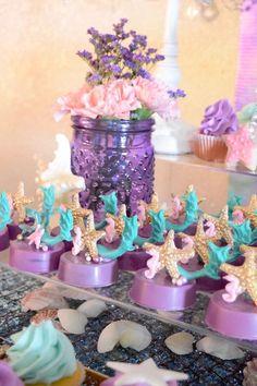 "Starfish Oreos from a Pastel ""Let's Be Mermaids"" Birthday Party via Kara's Party Ideas | KarasPartyIdeas.com on Kara's Party Ideas | KarasPartyIdeas.com (18)"