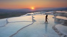 Pamukkale Rock Pools is a Scenic Point. Plan your road trip to Pamukkale Rock Pools with Roadtrippers. Pamukkale, Day Trips From Istanbul, Istanbul Tours, Istanbul Turkey, Kusadasi, Dubai, Tourist Sites, Excursion, Rock Pools