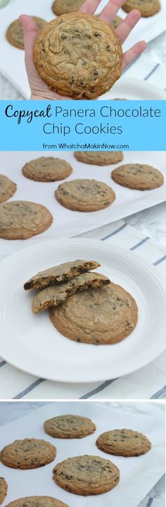 Copycat Panera Chocolate Chip Cookies - Giant Chocolate Chip Cookies
