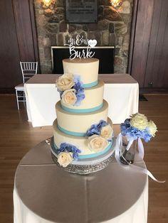 Simple Floral Wedding Cake. Wedding Cake. Floral Wedding Cake. Simple Wedding Cake. Blue Wedding Theme. Wedding Cake. Real Flower. Wedding Florals. Wedding Theme. Summer Wedding. Simple Wedding Themes.