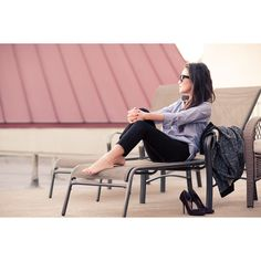 Moving :: Light chambray & Cropped pants : Wendy's Lookbook via Polyvore