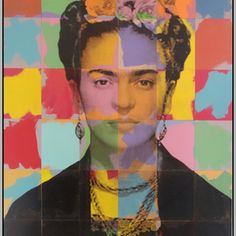 High Quality Frida Kahlo Colors Modern Abstract Oil Painting on Canvas Art 4 Sizes Home Decoration Classic Posters and Prints Self Portrait Art, Pop Art Portraits, Power Pop, Diego Rivera, Art Pop, Mixed Media Painting, Oil Painting Abstract, Painting Art, Andy Warhol