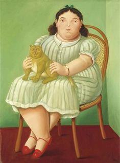 pinturas botero mujeres imágenes - Búsqueda de Google Plus Size Art, Spanish Art, Vintage Valentines, Cat Art, Female Art, Aurora Sleeping Beauty, Presents, American, Disney Characters