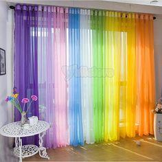 Rainbow curtains....