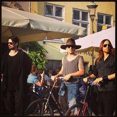 #30secondstoMars in Nyhavn, in Copenhagen, Denmark