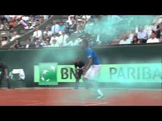 And you thought running for a tweener looked hard... Take a look at Gael #Monfils' jumping tweener!