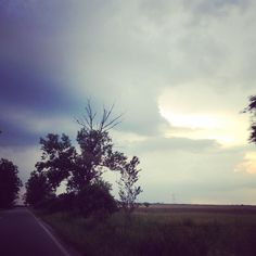 Friday clouds  #weather #sky #clouds #romania #road #trees