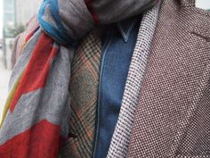 tweed/denim/linen