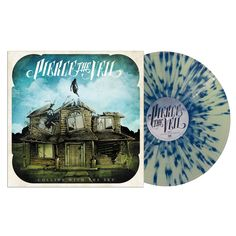 """""""Collide with the Sky"""" by Pierce the Veil.  I LOVE their colored vinyl.  They had this in blue as well as coke bottle with bone fragments."""