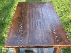 prairie bench old plank wood kitchen table   PRAIRIE BENCH