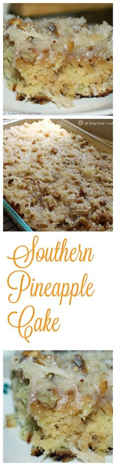 Southern Pineapple Cake is amazingly moist and delicious. It's so easy to make and even easier to eat!