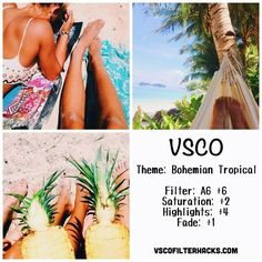 Bohemian Tropical Instagram Feed Using VSCO Filter A6