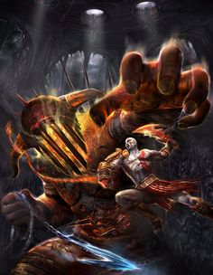 View an image titled 'Kratos & Hades Art' in our God of War III art gallery featuring official character designs, concept art, and promo pictures. Video Game Art, Video Games, Aya Sophia, Geeks, Character Art, Character Design, Kratos God Of War, Graphic Wallpaper, Phone Backgrounds
