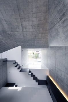 Stairs and concrete.