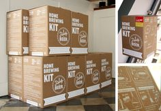 Packaging Family Beer, home brewing kit