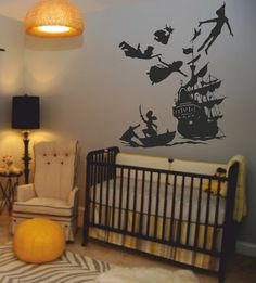 This will definitely be in my future child's room! Peter Pan Wall Decals. Perfect for a kids room.