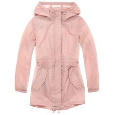 Andrew Marc Teri (27.020 HUF) ❤ liked on Polyvore featuring outerwear, coats, jackets, natural, parkas, hooded raincoat, parka coats, hooded parka, pink parkas and andrew marc coats