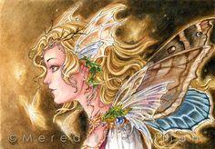 Fairy Lights print Autumn Fantasy art Princess by meredithdillman, $12.00
