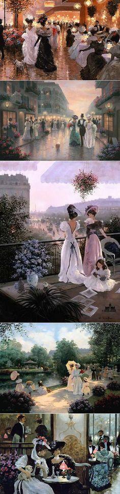 Очарование старинного Парижа в творчестве Кристы Киффер   искусство   Постила