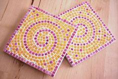 Untersetzer Mosaik Anleitung DIY