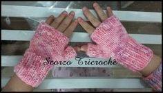 """Scorzo Tricroche: Luva de """"dedinhos de fora"""" infantil feita de tricô em agulhas retas - receita"""