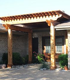 pergola attached to home