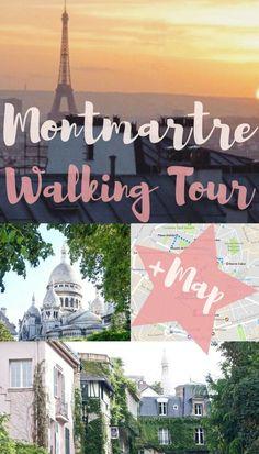 Montmartre Walking Tour- self guided walking tour of Montmartre, Paris, France