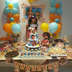 Fiesta infantil tematica de moana hawaiana (11) - Tutus para Fiestas Mexico - Disfrases personalizados y moños