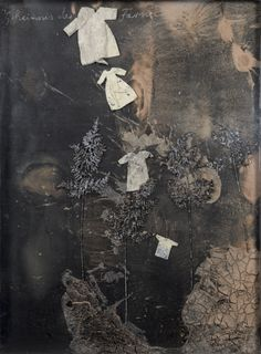 "blastedheath: "" Anselm Kiefer (German, b. 1945), Geheimnis der Farne [Mystery of ferns], 2006. Oil, emulsion, acrylic, lacquer, brambles, ferns, clothing and plaster on canvas on panel in a casing, 190 x 140 cm. """