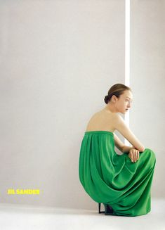 Jil Sander S/S 2007 Photographer: Willy Vanderperre Model: Johanna Stickland Fashion Advertising, Jil Sander, Fashion Details, Her Style, Green Dress, Editorial Fashion, Fashion Photography, Dress Up, Spring Summer