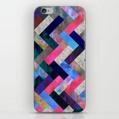 Gypsee Night Herringbone iPhone & iPod Skin by SchatziBrown #pattern #chevron #herringbone #geometric #schatzibrown