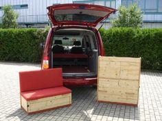 VW Caddy Maxi mit Trendline Bio Möbelbausatz