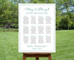 Chalkboard Wedding Seating Chart Board Poster Diy 24 Hour By Itcoa 50 00 Weddings Pinterest And Charts