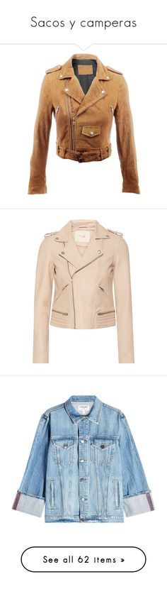 """""""Sacos y camperas"""" by emilia-guerrero ❤ liked on Polyvore featuring outerwear, jackets, beige cropped jacket, suede jacket, cropped jacket, suede leather jacket, cropped suede jacket, coats, leather jacket and tops"""