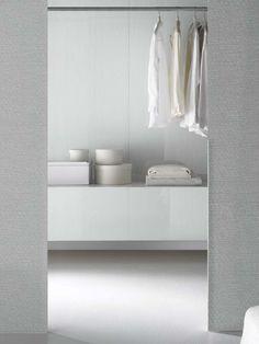 Pure glass, pure Italian Design for interior decoration: Madras Silver and Lac Closet Storage, Storage Shelves, Storage Spaces, Closet Organization, Wardrobe Closet, Room Closet, Bedroom Wardrobe, Walk In Closet Inspiration, Home Suites
